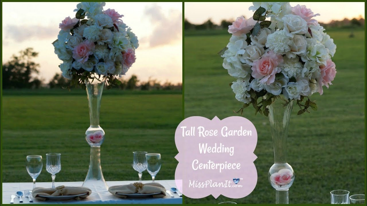 Best ideas about DIY Tall Wedding Centerpieces . Save or Pin DIY Tall Rose Garden Wedding Centerpiece Now.