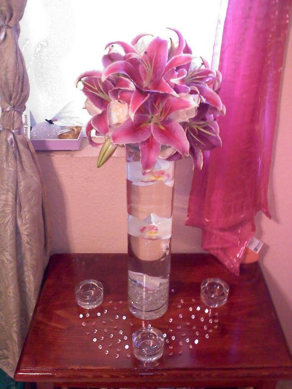 Best ideas about DIY Tall Wedding Centerpieces . Save or Pin My DIY tall stargazer lily centerpiece Now.