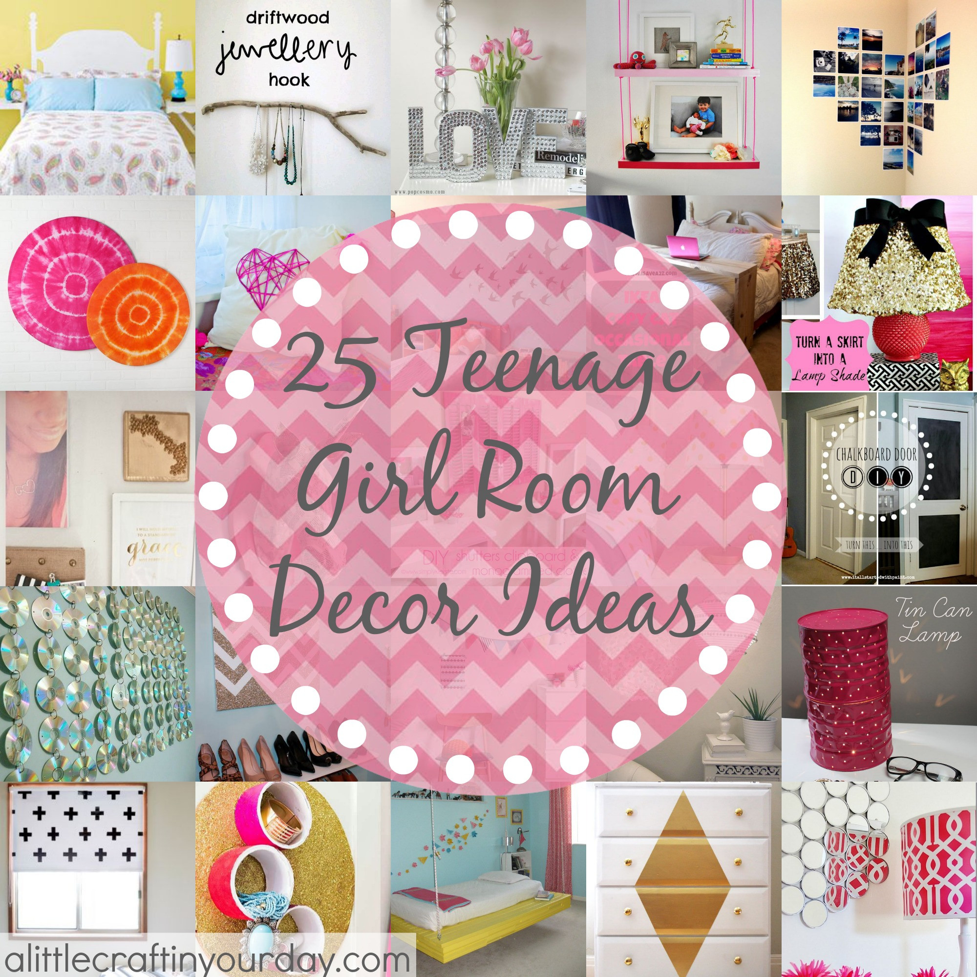Best ideas about DIY Teenage Girl Room Decorations . Save or Pin 25 More Teenage Girl Room Decor Ideas A Little Craft In Now.