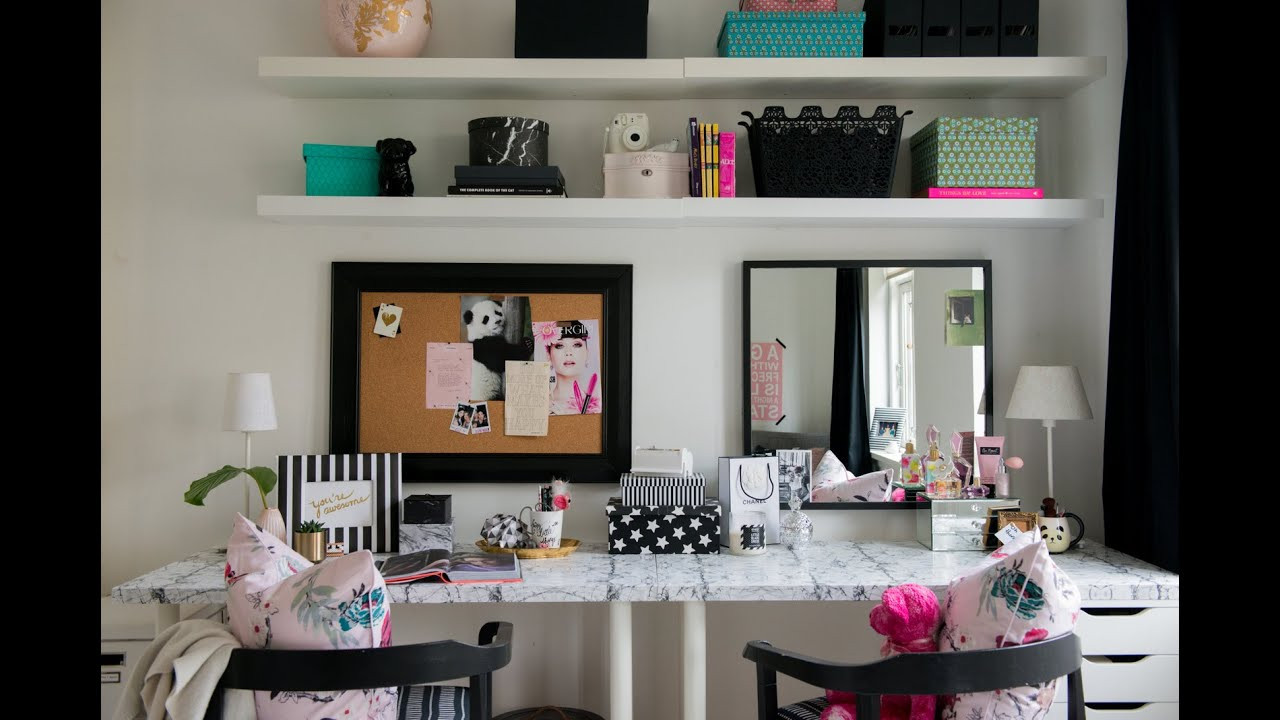 Best ideas about DIY Teenage Girl Room Decorations . Save or Pin TEEN BEDROOM MAKEOVER THE DESK & VANITY DIY ROOM DECOR Now.