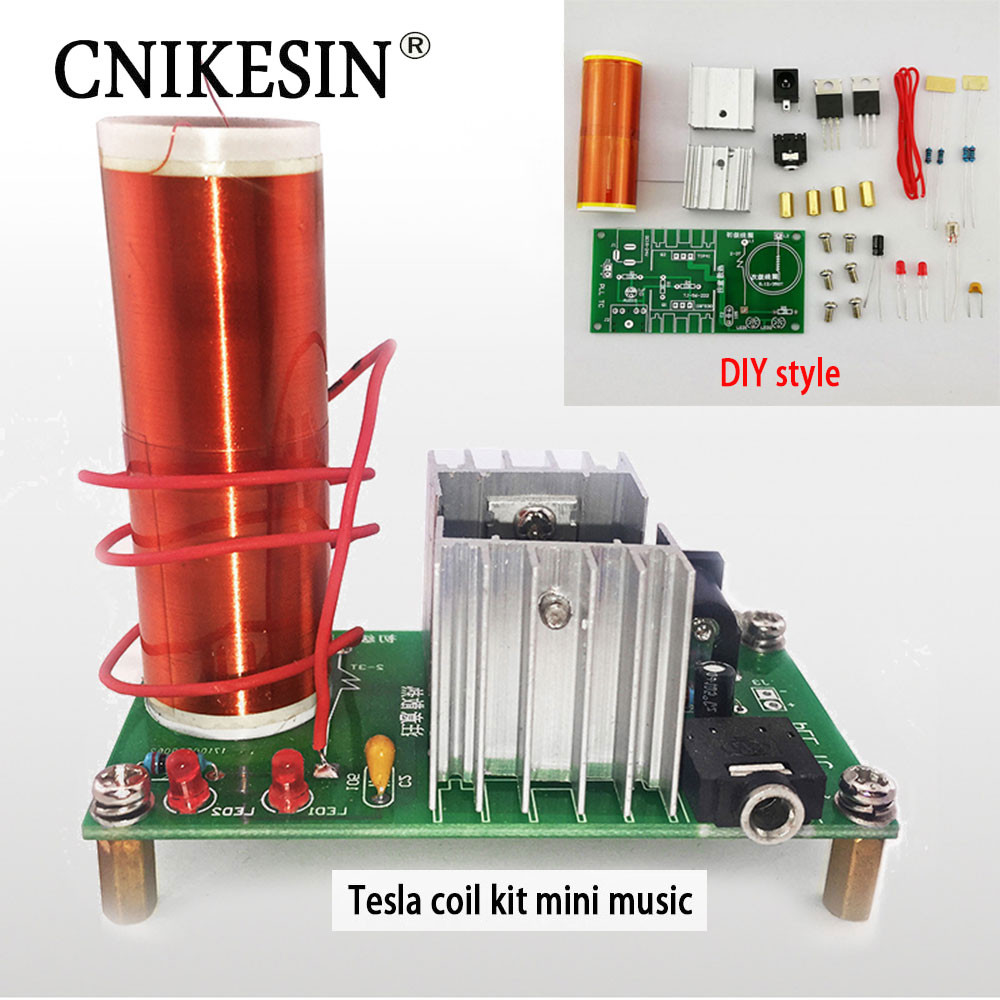Best ideas about DIY Tesla Coil Kit . Save or Pin CNIKESIN DIY Kits 1 Set Mini Tesla Coil Kit 15W Mini Music Now.
