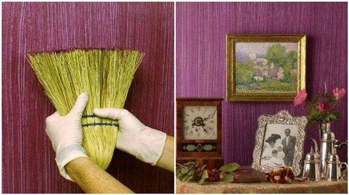Best ideas about DIY Textured Paint . Save or Pin Creative DIY Textured Walls Using a Whisk Broom Now.