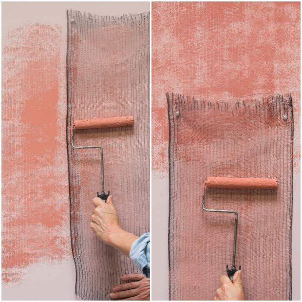 Best ideas about DIY Textured Paint . Save or Pin How to Stencil Tutorial Stenciling a Textured Fabric Wall Now.