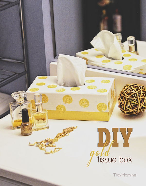 Best ideas about DIY Tissue Box . Save or Pin DIY Gold Tissue Box Now.