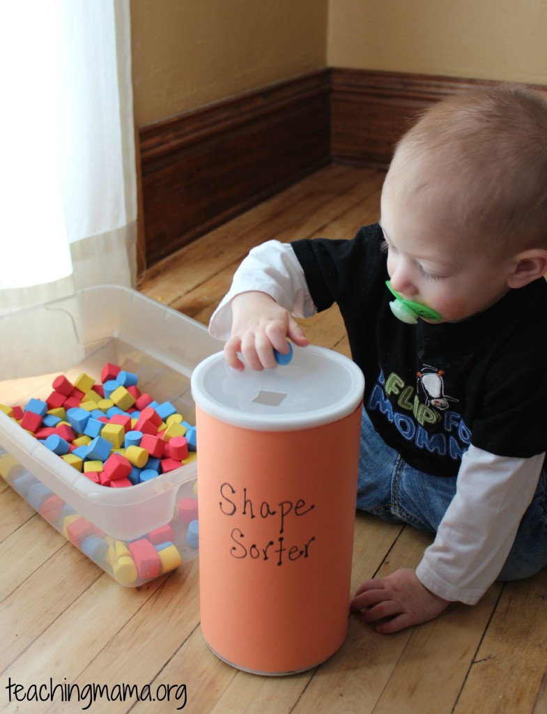 Best ideas about DIY Toddler Activities . Save or Pin Toddler Tuesday DIY Shape Sorter Teaching Mama Now.