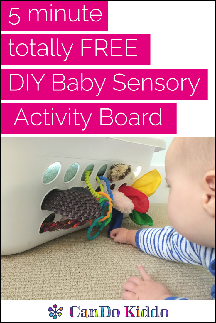 Best ideas about DIY Toddler Activities . Save or Pin 5 minute $0 DIY Baby Sensory Activity Board — CanDo Kiddo Now.