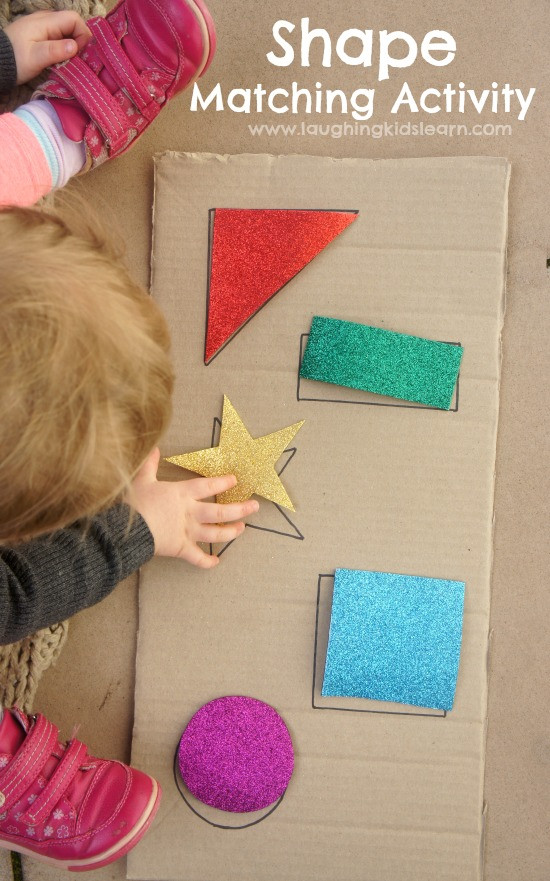Best ideas about DIY Toddler Activities . Save or Pin Simple DIY shape puzzle for babies and toddlers Laughing Now.