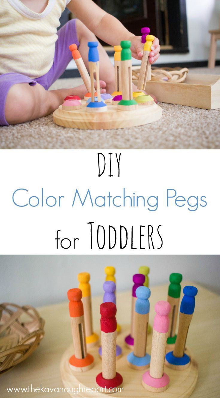 Best ideas about DIY Toddler Activities . Save or Pin DIY Color Matching Pegs for Toddlers Now.