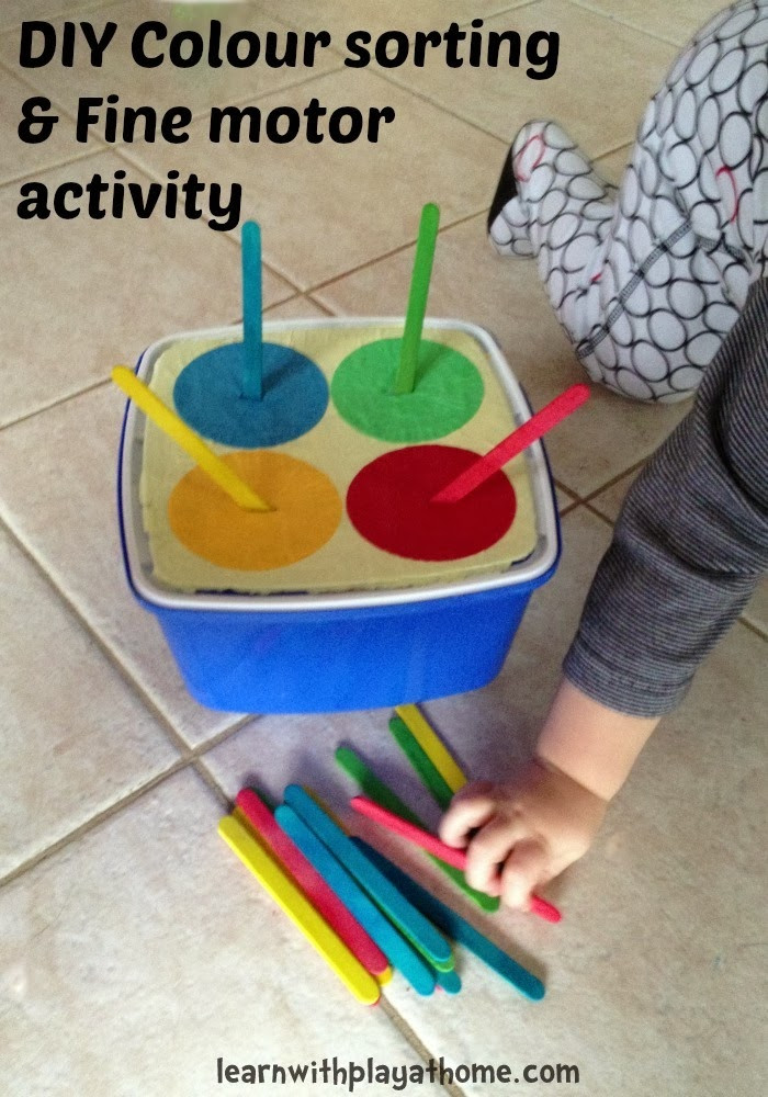 Best ideas about DIY Toddler Activities . Save or Pin Learn with Play at Home Simple DIY colour sorting and Now.