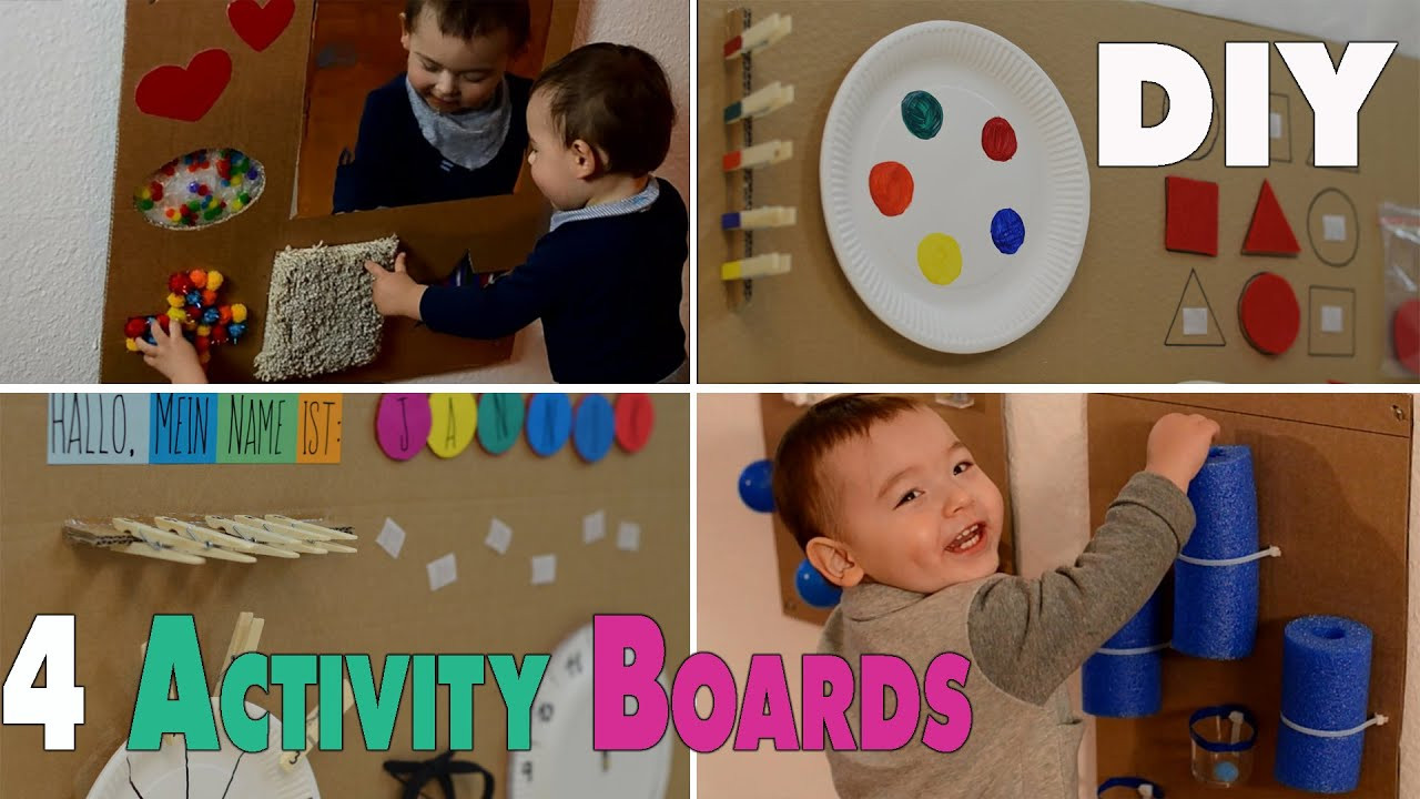 Best ideas about DIY Toddler Activities . Save or Pin 4 DIY Activity Boards for babys and toddlers Now.