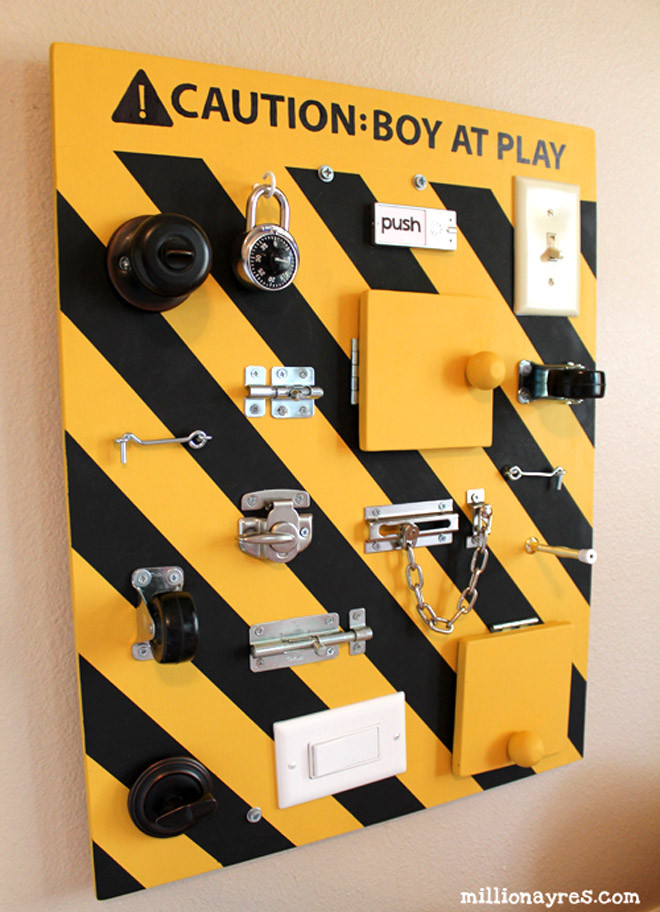 Best ideas about DIY Toddler Busy Board . Save or Pin 17 DIY busy boards for active toddlers Now.