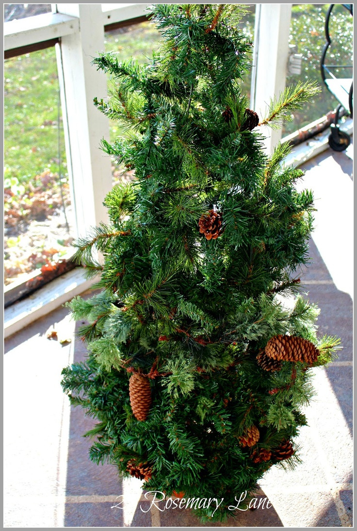 Best ideas about DIY Tomato Cage Christmas Tree . Save or Pin DIY garland tree using tomato cage Now.