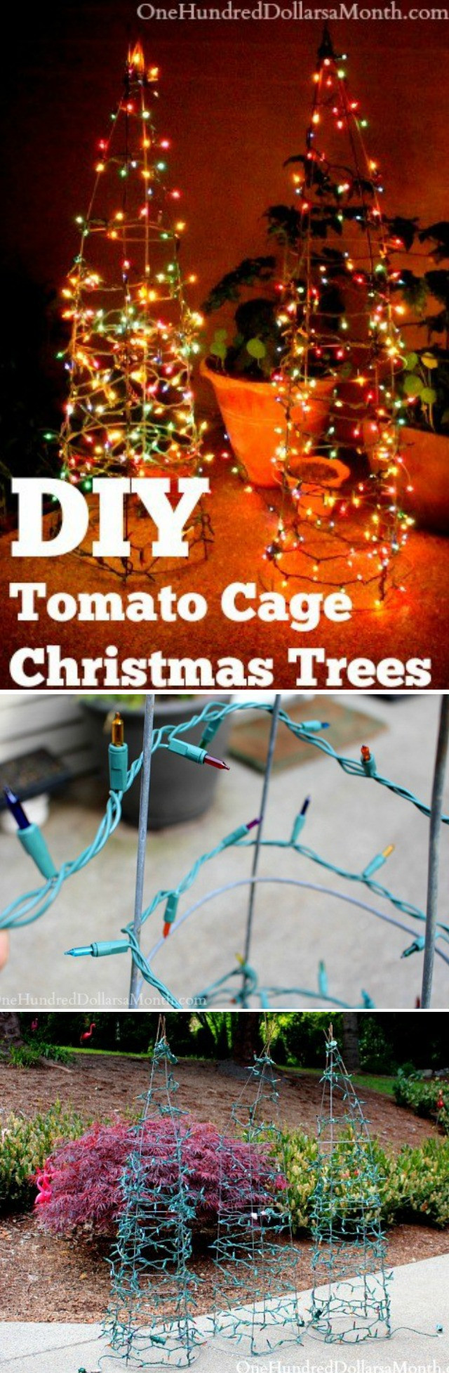 Best ideas about DIY Tomato Cage Christmas Tree . Save or Pin DIY Tomato Cage Christmas Trees e Hundred Dollars a Month Now.