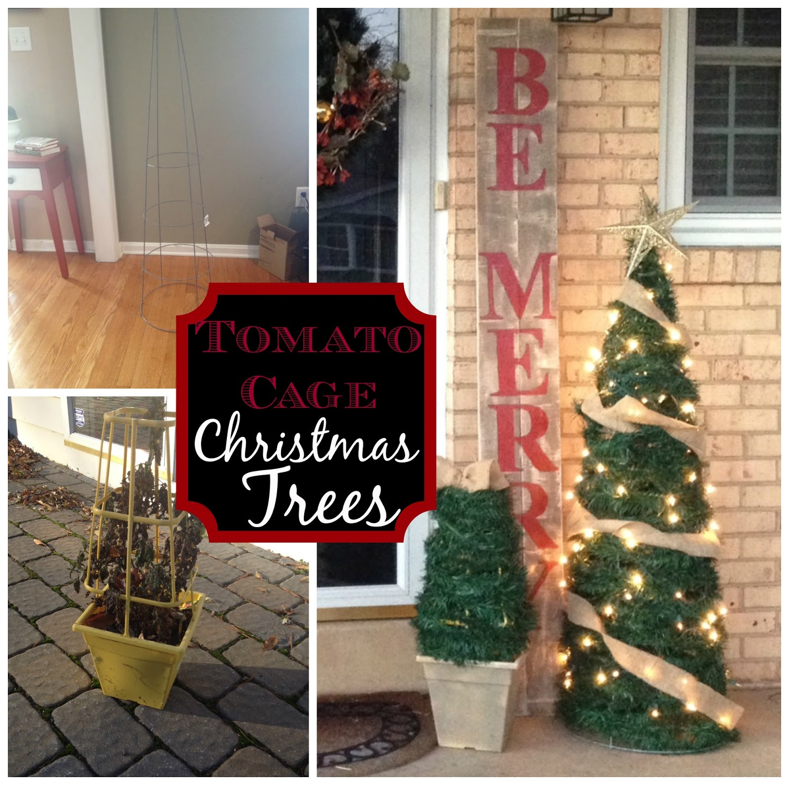 Best ideas about DIY Tomato Cage Christmas Tree . Save or Pin Two It Yourself DIY Outdoor Christmas Trees from Now.