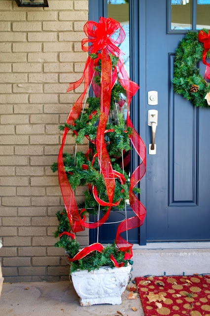 Best ideas about DIY Tomato Cage Christmas Tree . Save or Pin Christmas Holiday DIY tomato cage decor Now.