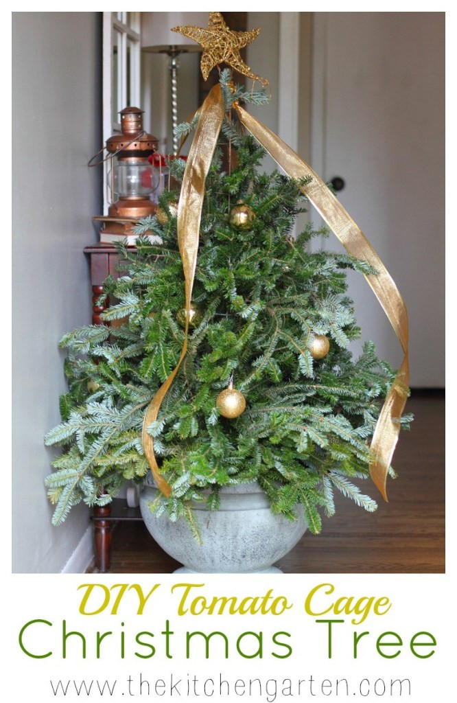 Best ideas about DIY Tomato Cage Christmas Tree . Save or Pin DIY Tomato Cage Christmas Tree The Kitchen Garten Now.