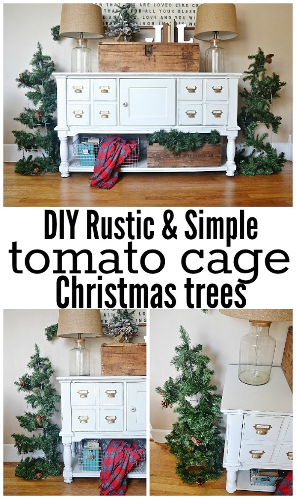 Best ideas about DIY Tomato Cage Christmas Tree . Save or Pin DIY Rustic Tomato Cage Christmas Trees Now.