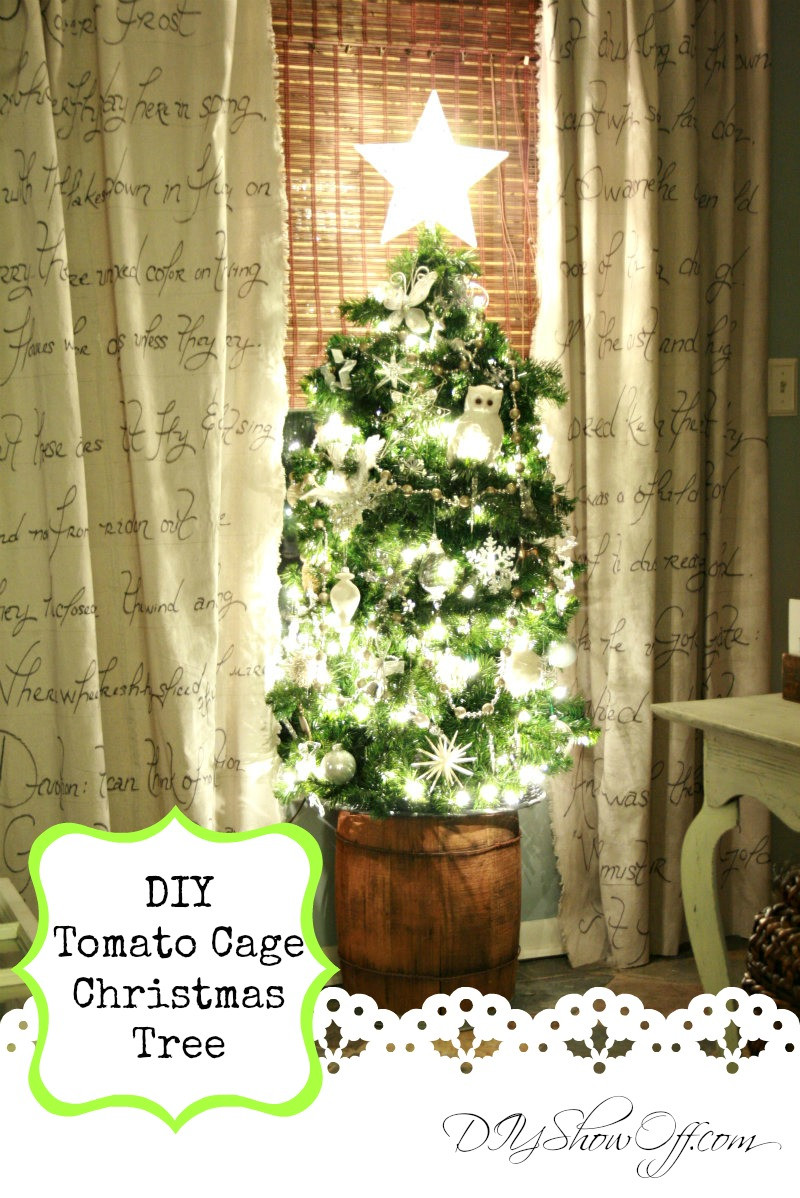 Best ideas about DIY Tomato Cage Christmas Tree . Save or Pin DIY Tomato Cage Christmas Tree tutorialDIY Show f Now.