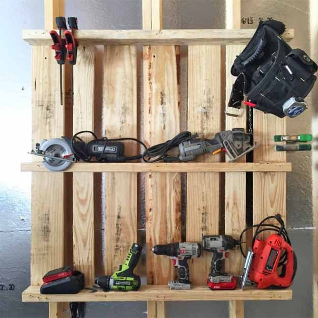 Best ideas about DIY Tool Organization . Save or Pin Pallet Idea Tool Organizer for the Garage Now.