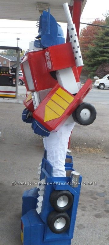 Best ideas about DIY Transformer Costume . Save or Pin Awesome G1 Optimus Prime Costume from Recycled Materials Now.