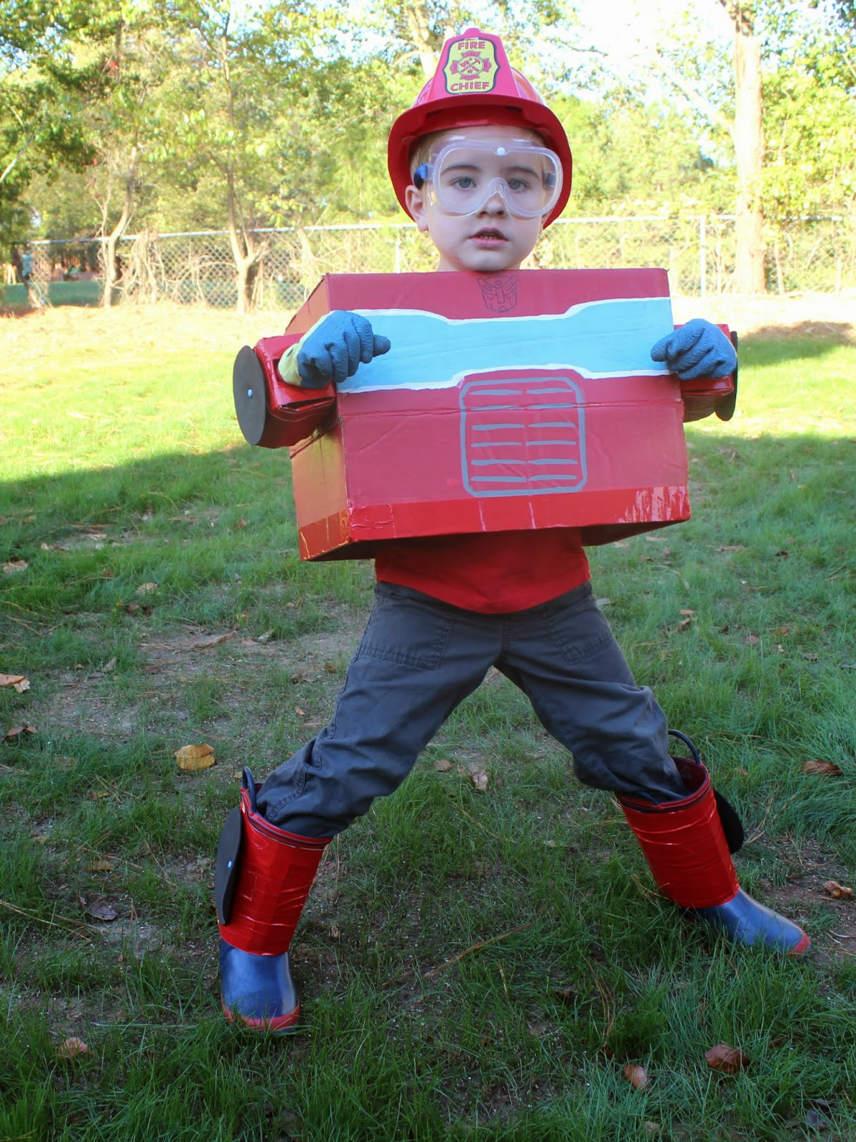 Best ideas about DIY Transformer Costume . Save or Pin Love City costume love our diy halloween costumes Now.