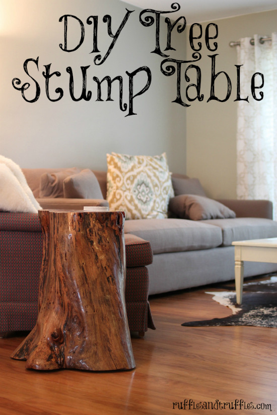 Best ideas about DIY Tree Stump Table . Save or Pin Tree stump table DIY Now.