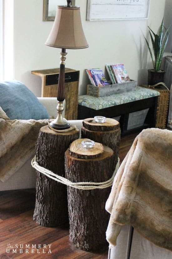 Best ideas about DIY Tree Stump Table . Save or Pin DIY Tree Stump Table The Summery Umbrella Now.