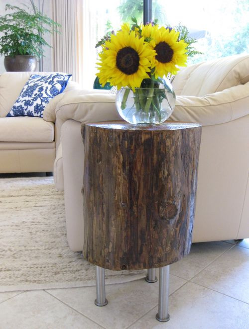 Best ideas about DIY Tree Stump Table . Save or Pin DIY Tree Stump Table K Sarah Designs Now.