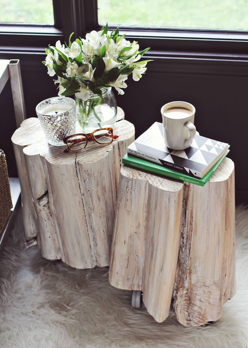 Best ideas about DIY Tree Stump Table . Save or Pin DIY Tree Stump Side Tables – A Beautiful Mess Now.