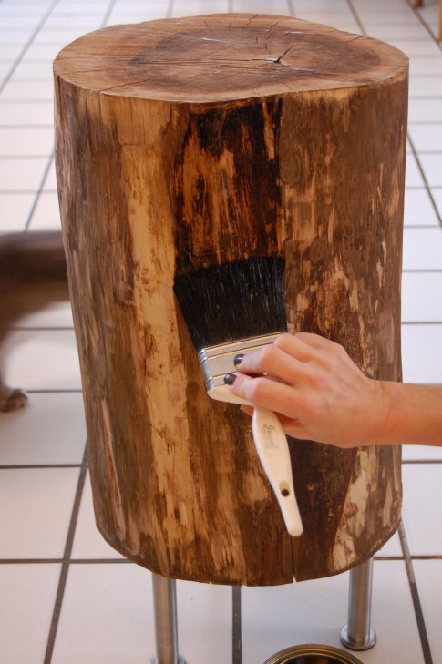 Best ideas about DIY Tree Stump Table . Save or Pin Vivian Was Here DIY Tree Stump Table Now.