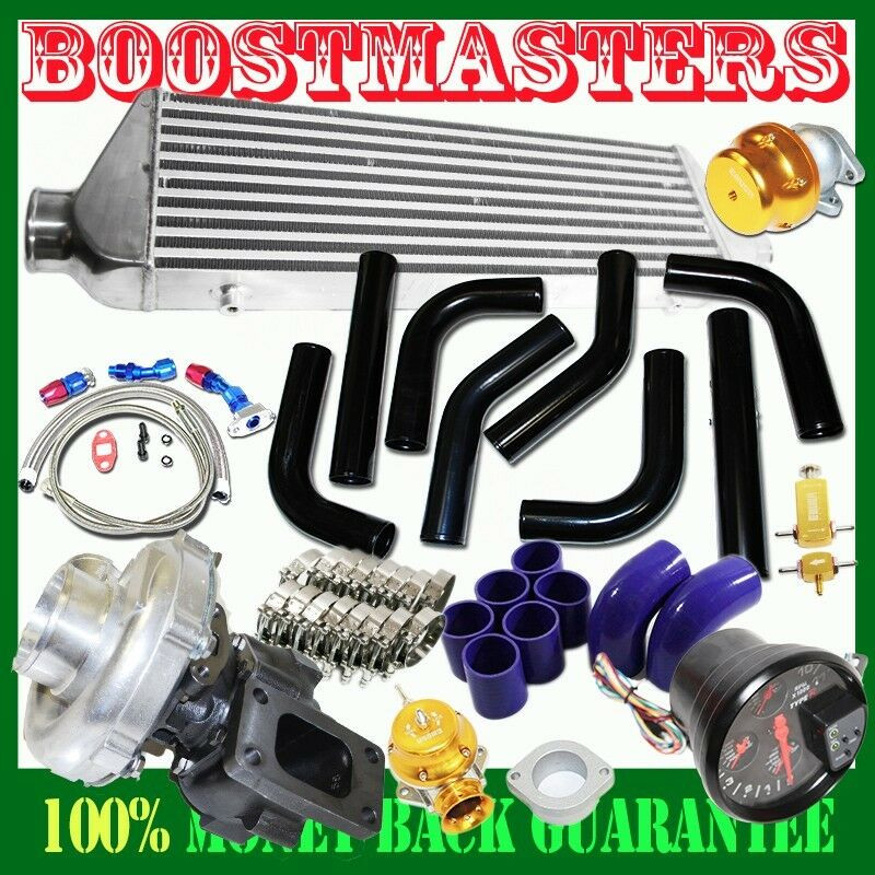 "Best ideas about DIY Turbo Kits . Save or Pin For DIY Universal T3 T4 Turbo Kits 2 5"" Black Intercooler Now."
