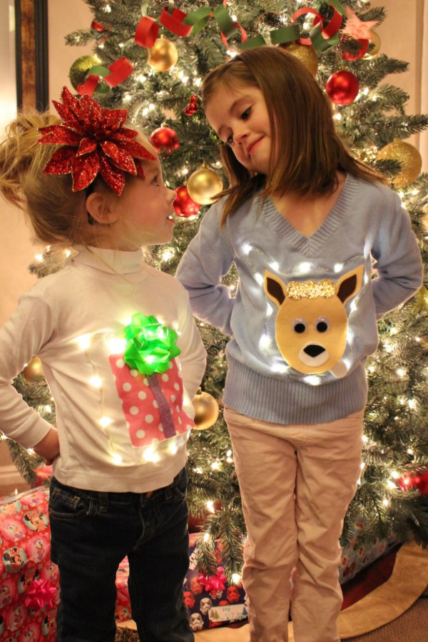 Best ideas about DIY Ugly Christmas Sweater For Kids . Save or Pin Utah County Mom No Sew Ugly Christmas Light Up Sweaters Now.