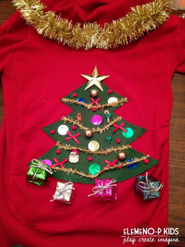 Best ideas about DIY Ugly Christmas Sweater For Kids . Save or Pin 34 DIY Ugly Christmas Sweaters Now.