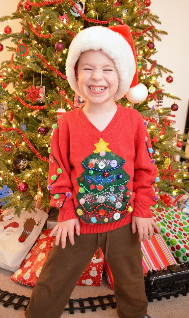 Best ideas about DIY Ugly Christmas Sweater For Kids . Save or Pin DIY Ugly Sweater Amy Latta Creations Now.
