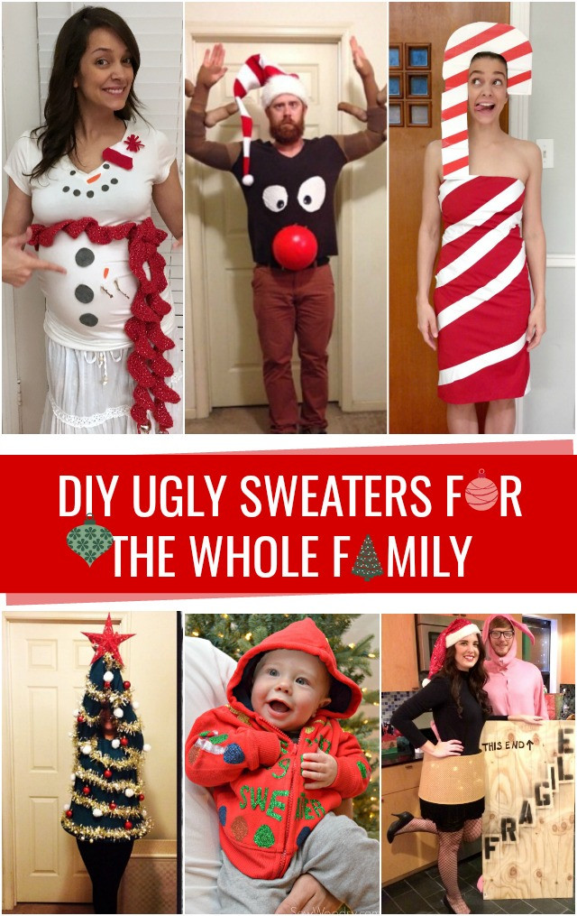 Best ideas about DIY Ugly Christmas Sweater For Kids . Save or Pin DIY Ugly Christmas Sweaters C R A F T Now.