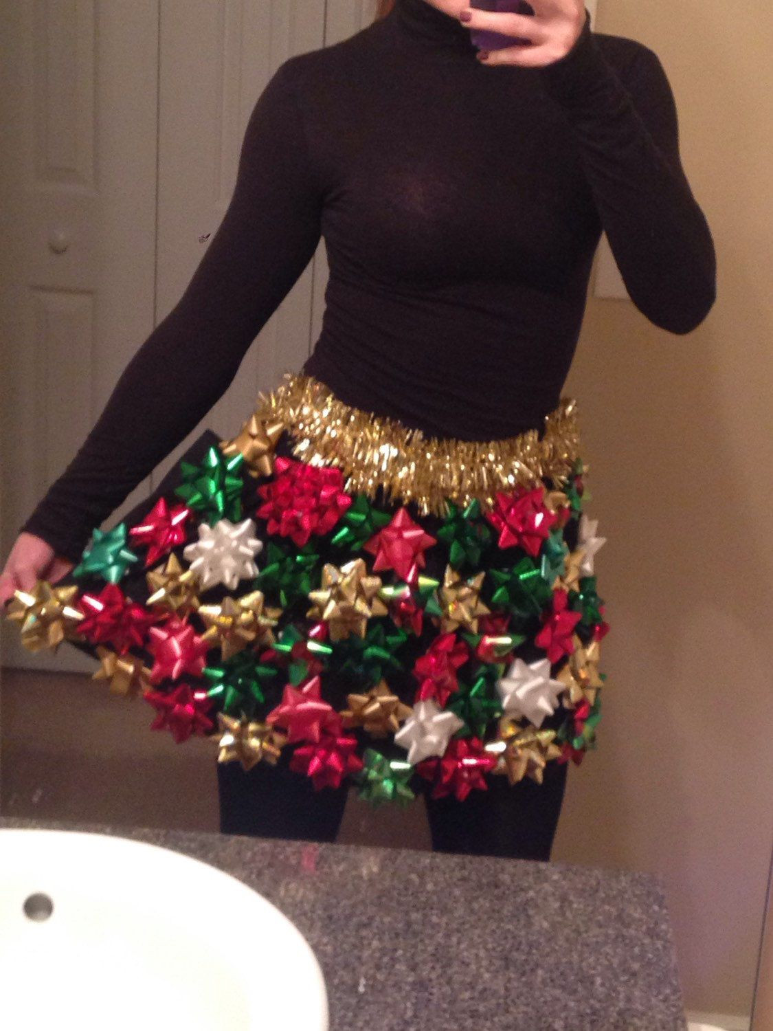 Best ideas about DIY Ugly Christmas Sweater For Kids . Save or Pin Ugly Christmas Sweater Christmas Bow Skirt Ugly Now.