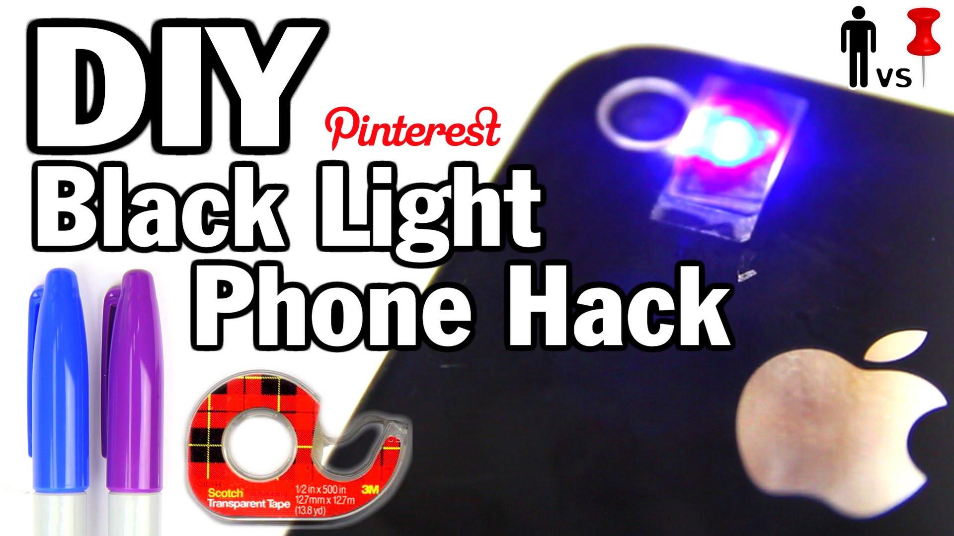 Best ideas about DIY Ultraviolet Light . Save or Pin DIY Black Light Phone Hack – Man Vs Pin 32 – INTHEFAME Now.