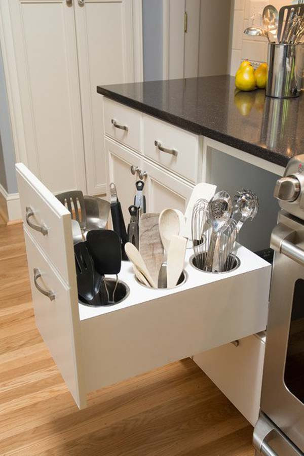 Best ideas about DIY Utensil Organizer . Save or Pin Remodelaholic Now.