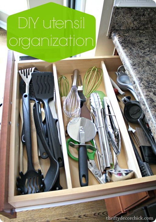 Best ideas about DIY Utensil Organizer . Save or Pin 1000 images about Kitchen Organized Drawers on Now.