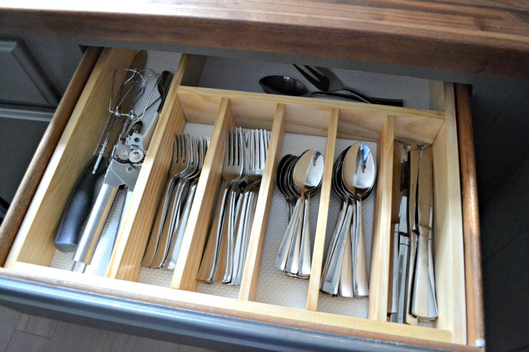 Best ideas about DIY Utensil Organizer . Save or Pin $10 to Organized DIY Silverware Drawer Organizer The Now.
