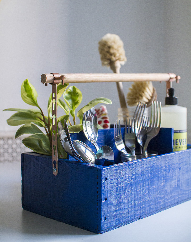 Best ideas about DIY Utensil Organizer . Save or Pin DIY Utensil Organizer A Beautiful Mess Now.