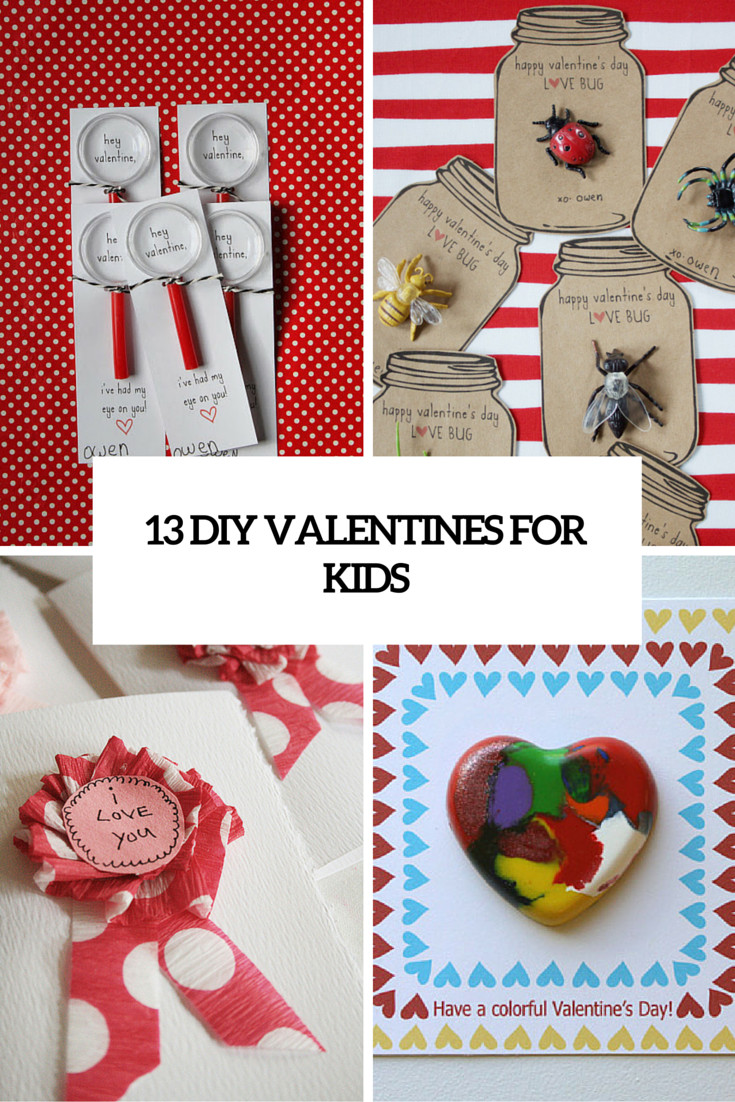 Best ideas about DIY Valentines For Kids . Save or Pin 13 Creative DIY Valentine's Day Cards For Kids Shelterness Now.