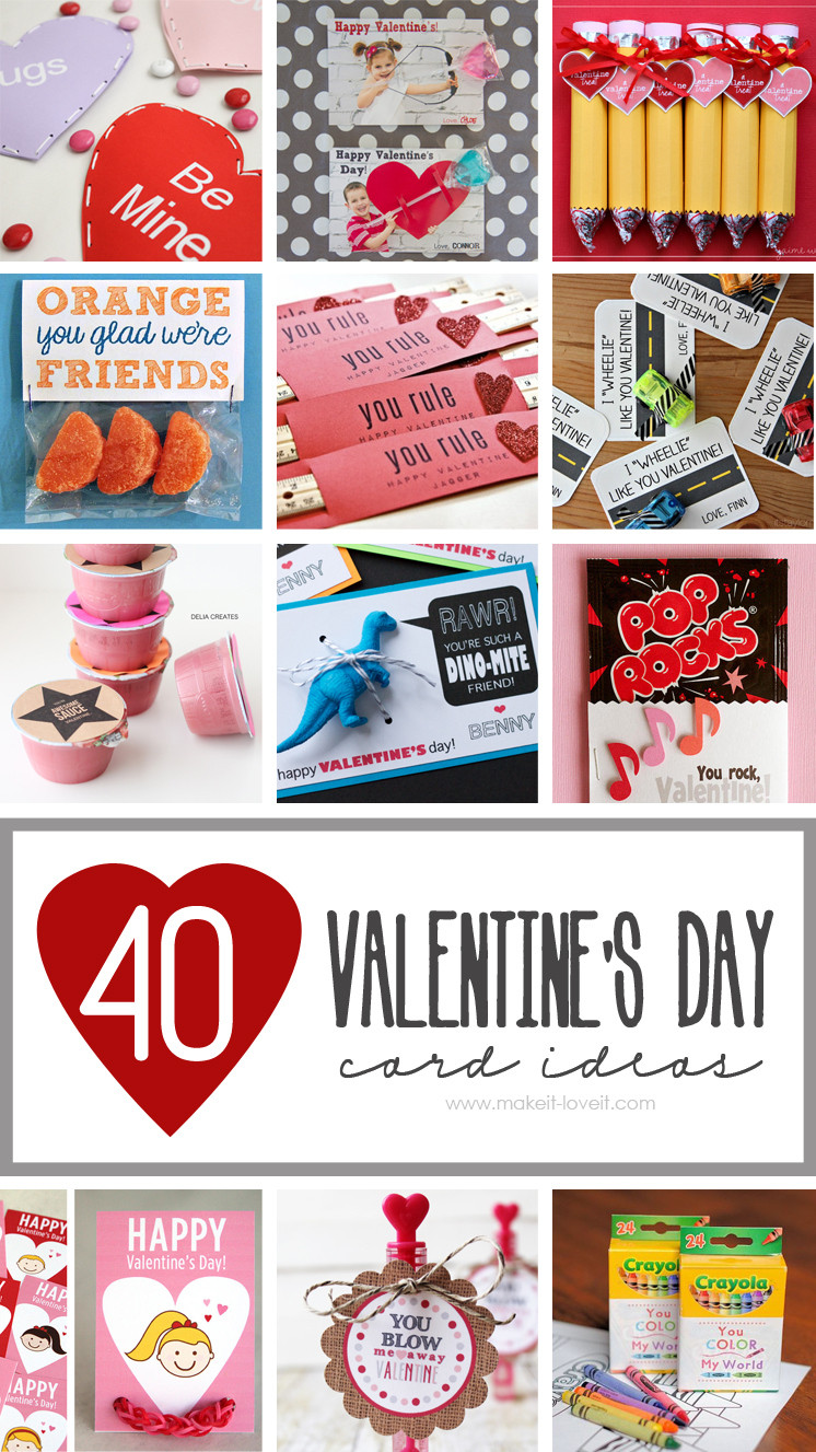 Best ideas about DIY Valentines For Kids . Save or Pin 40 DIY Valentine s Day Card Ideas for kids Now.