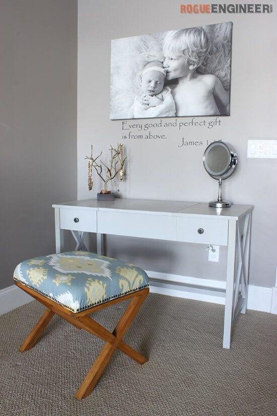 Best ideas about DIY Vanity Table Plans . Save or Pin 21 Brilliant DIY Makeup Vanity Ideas You Sould Build Now.