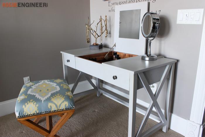 Best ideas about DIY Vanity Table Plans . Save or Pin Flip Top Vanity Free DIY Plans  Rogue Engineer Now.