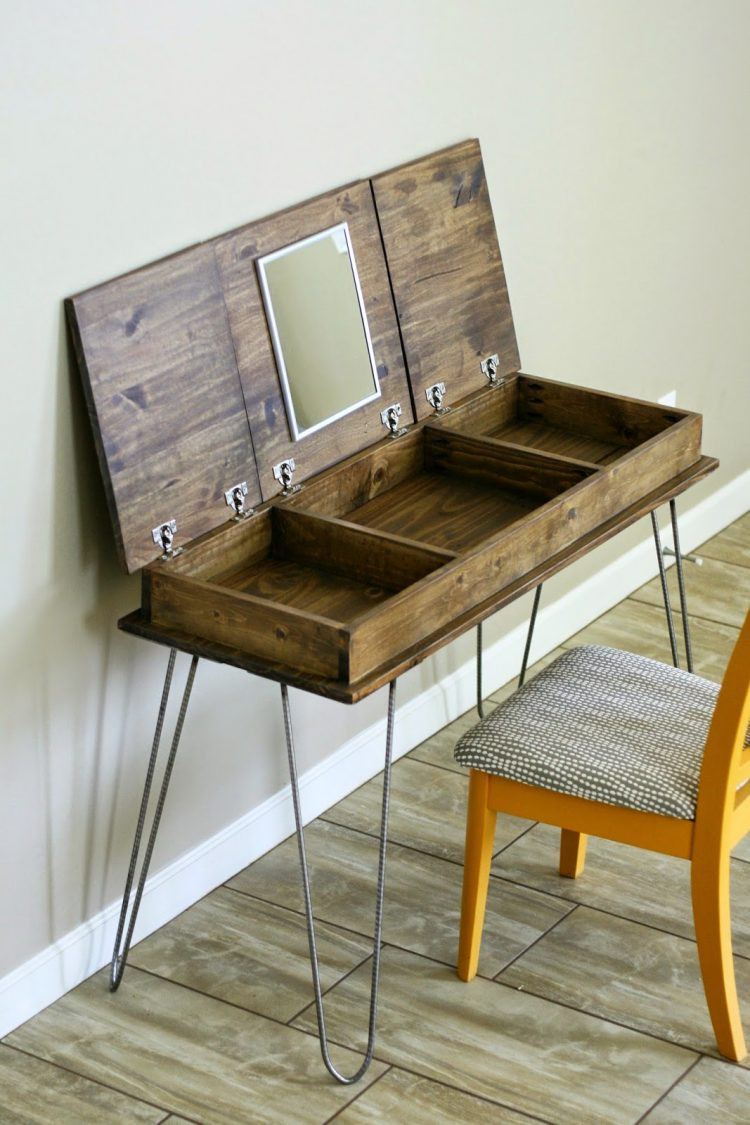 Best ideas about DIY Vanity Table Plans . Save or Pin DIY Vanity Mirror With Lights for Bathroom and Makeup Station Now.