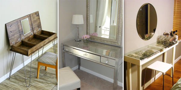 Best ideas about DIY Vanity Table Plans . Save or Pin 10 Gorgeous DIY Dressing Table Ideas Now.