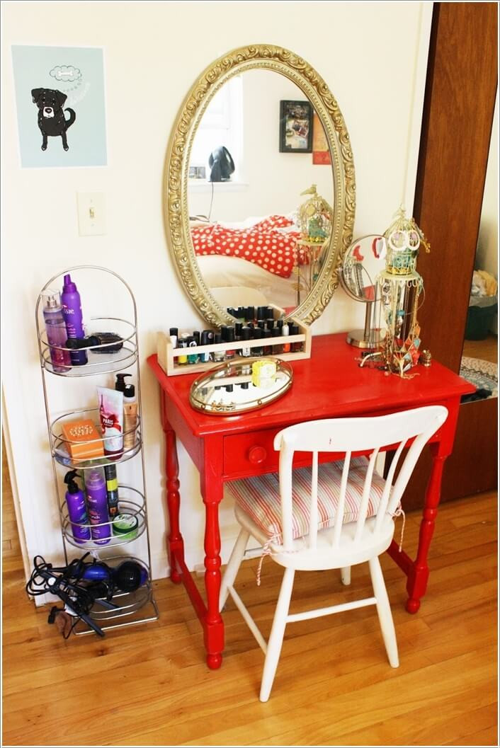 Best ideas about DIY Vanity Table Plans . Save or Pin 10 Cool DIY Makeup Vanity Table Ideas Now.