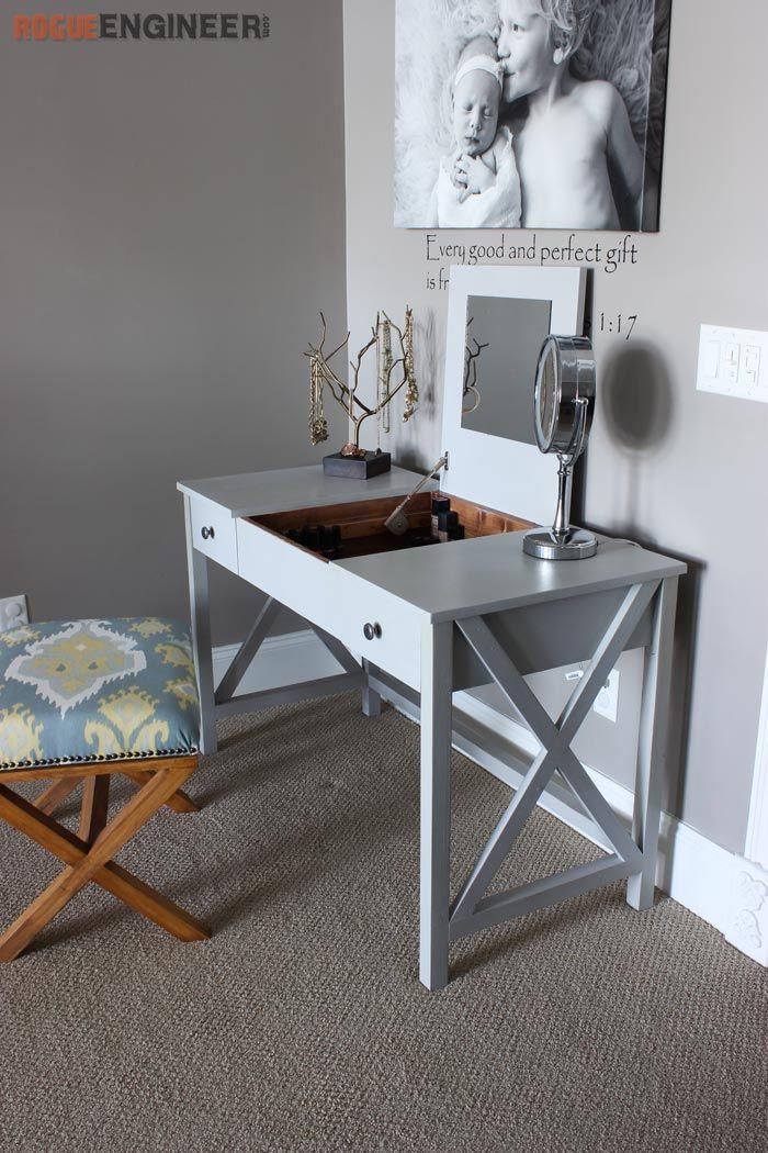 Best ideas about DIY Vanity Table Plans . Save or Pin Flip Top Vanity Free DIY Plans Now.