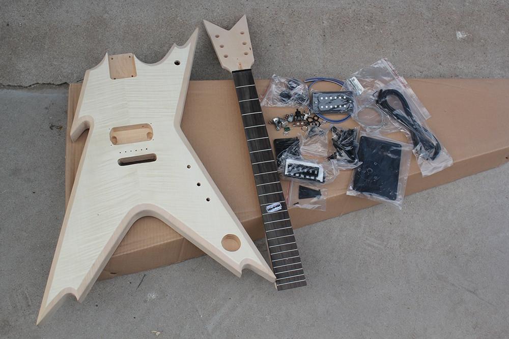 Best ideas about DIY Veneer Kit . Save or Pin Factory Custom Unusual Shape Electric Guitar Kit Parts Now.